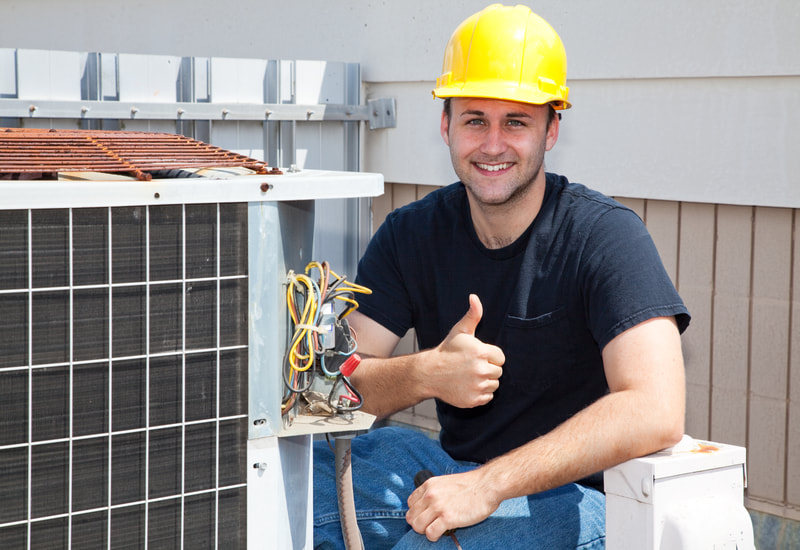 happy AC repair Man